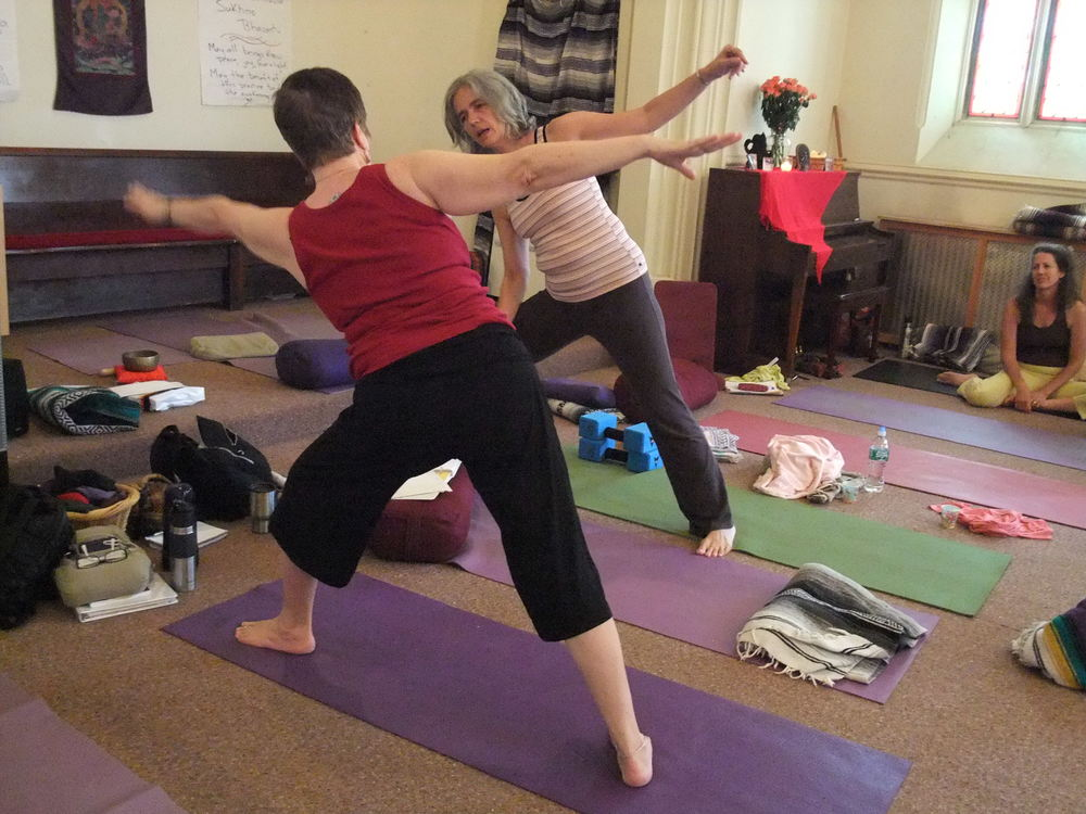 Journey into Yoga 500 hr. Yogis practice at RTC.JPG