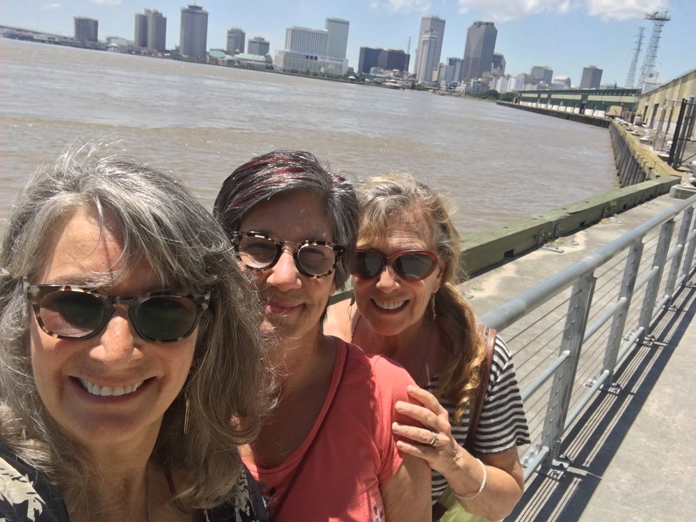 Brahmani, Susan (of Jazz Yoga) & Jashoda in New Orleans