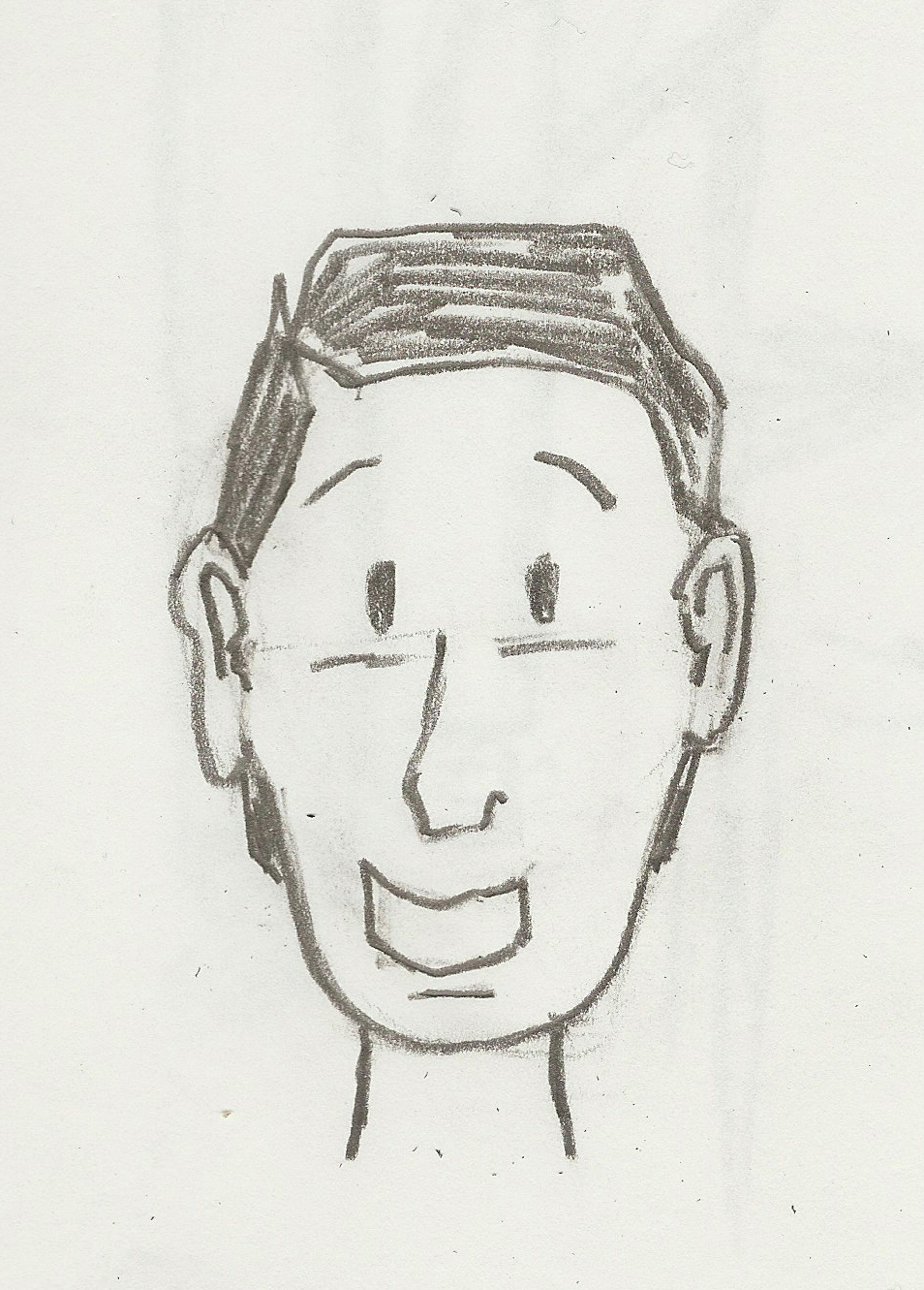 Self portrait of the author when he was much younger and before he started losing his hair.