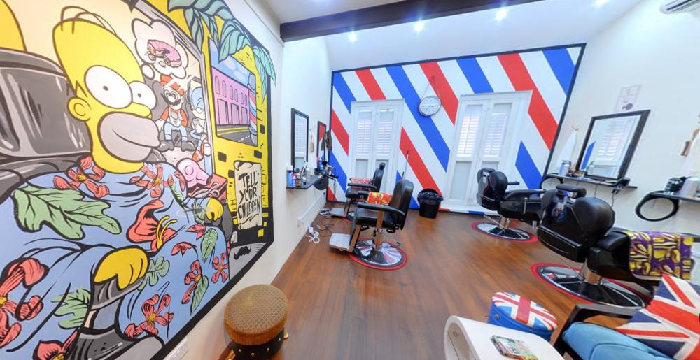 The A Street Barber Shop Address: 53 Haji Lane, S189246 Contact:9236 7036 Website:https://www.facebook.com/theAstreetbarbershop