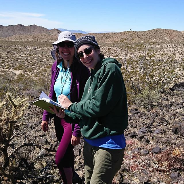 Field Season 15 with participants from @oberlincollege  and @bostonu cataloging Biology. Maia and Katherine write down their field observations. #mojavedesert #fieldnotes #biology #fieldwork #blueprintearth #outdoors #internships
