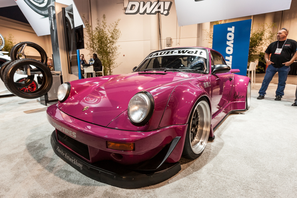 The RWB Rauh-Welt Porsche at the Toyo Tires booth