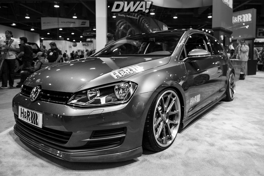 MK7 VW Golf at the H&R booth