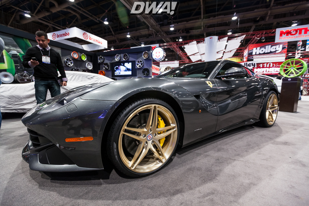 Ferrari F12 on some killer HRE Wheels at the HRE booth