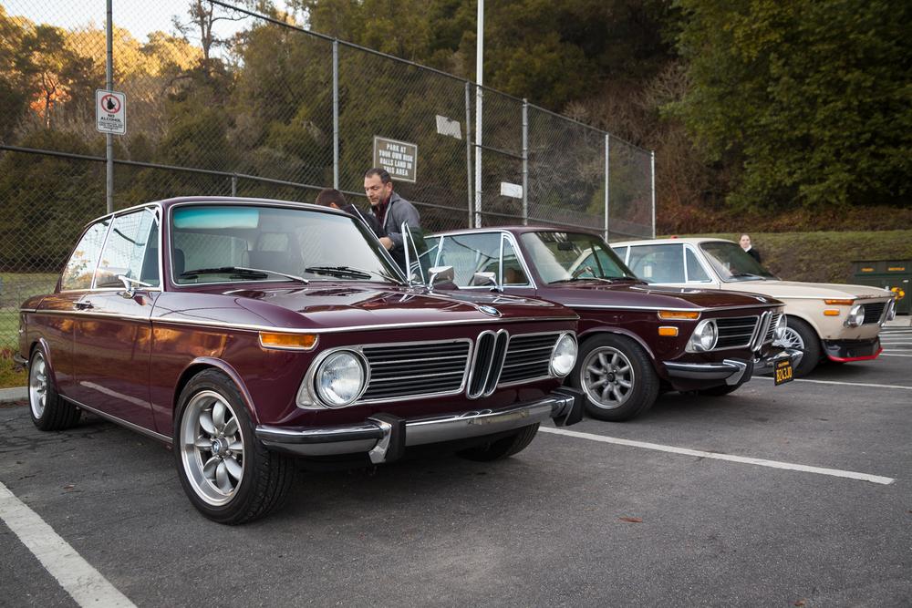 Three roundie BMW 2002s