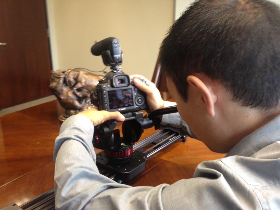 Tyler on the Kessler Pocket Dolly getting some detail shots.