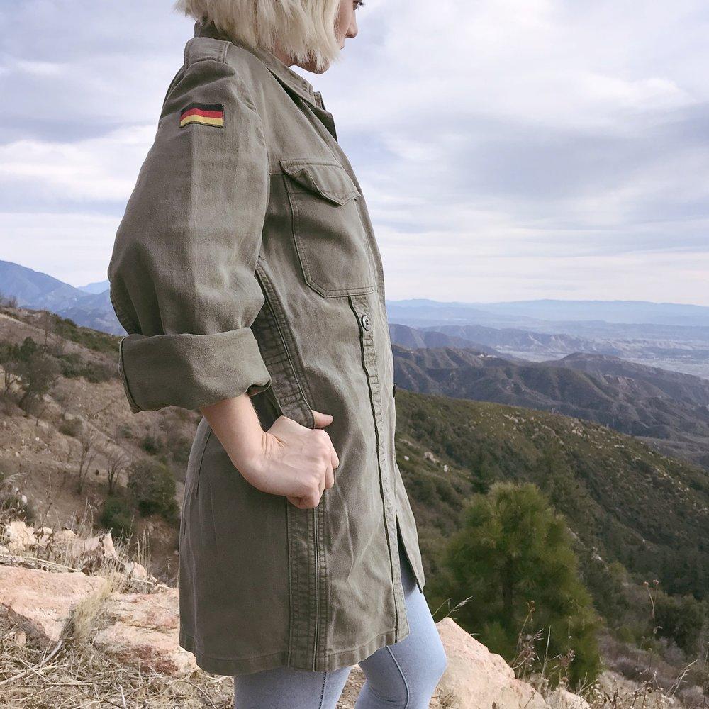 80s German Military Jacket $13.00
