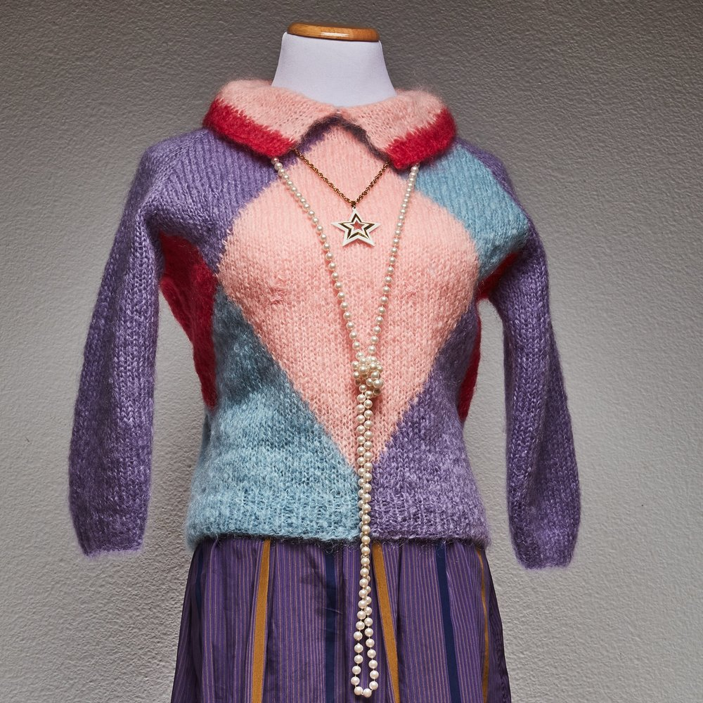 60s Pastel Mohair Sweater $12.00