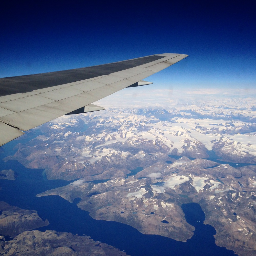 Beautiful view of Greenland from my seat, where traction alopecia first got its name in 1907