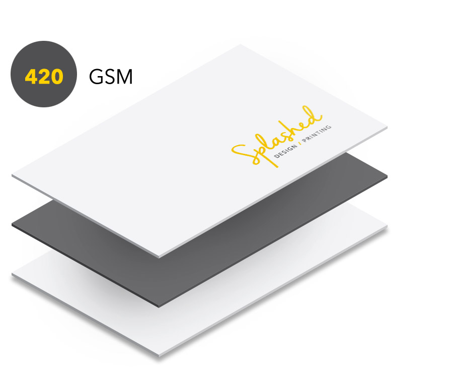 Traditional Business Cards — Splashed