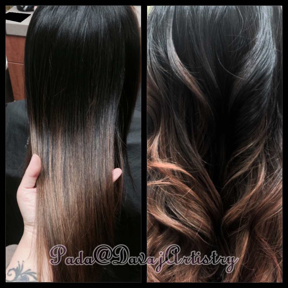 Cool Caramel Ombre