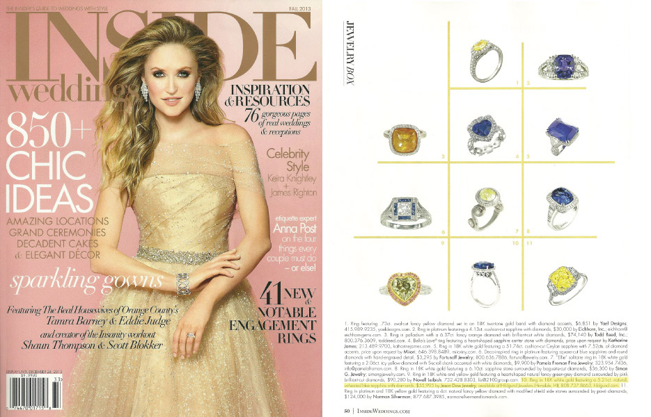 Inside Weddings Magazine - Fall 2013