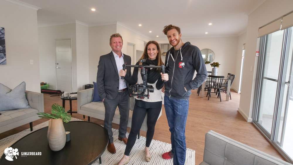Behind the Scenes with presenter Paul, Ultimo Constructions Owner; Bec and Head Beard Bruce