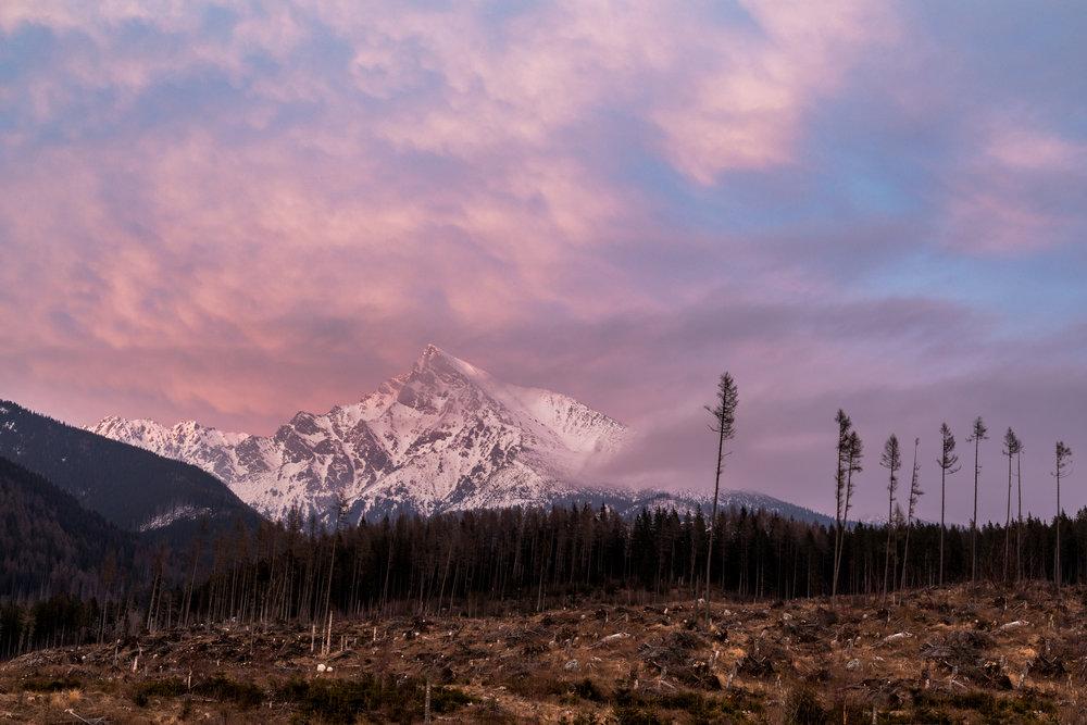 Sonnenuntergang Hohe Tatra - Karpaten