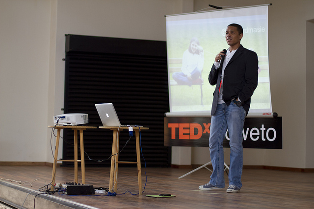 Stafford Masie presenting at TEDx Soweto