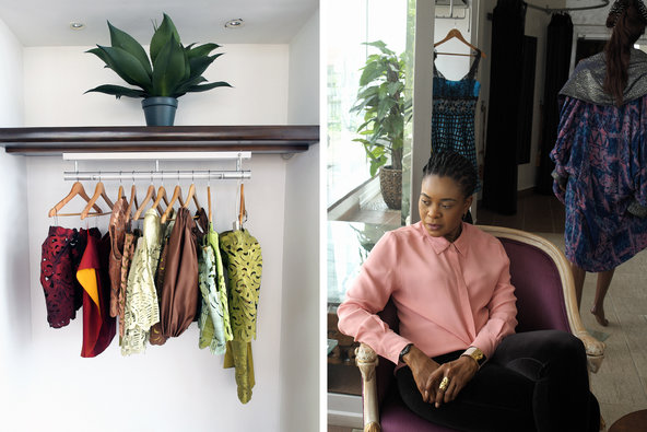 Deola Sagoe  ,   haute couture fashion designer from Nigeria, on  'African Spirit'