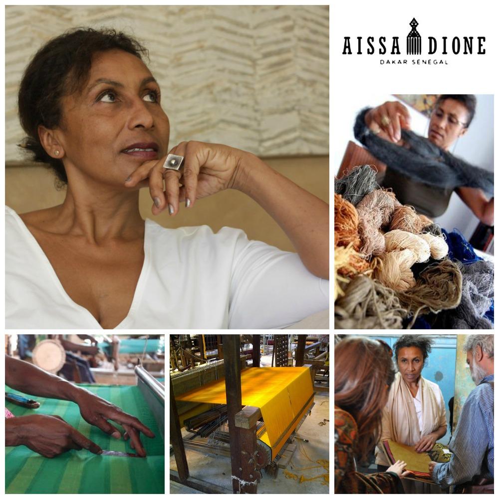 Aissa Dione, founder ofAissa Dione Tissus, Senegal