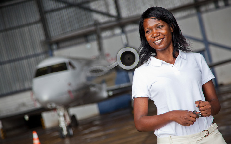 Susan Mashibe, founder and executive director of VIA Aviation