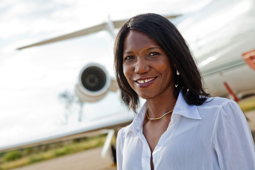 Susan Mashibe , founder of Via Aviation, Tanzania