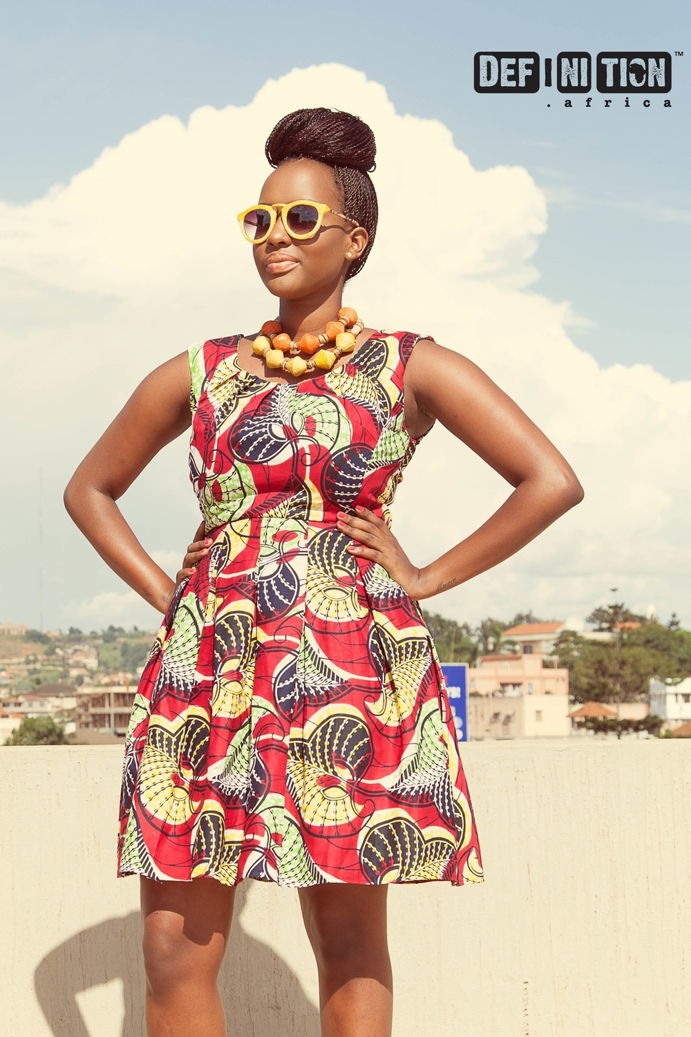 Definition Africa - Pleated Dress - Balungi Necklace & Glasses.jpg