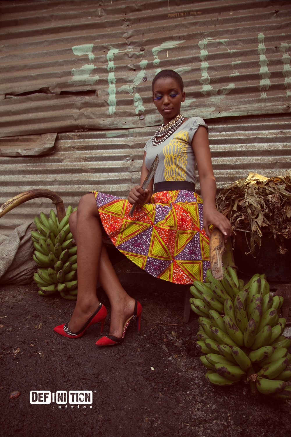 Definition Africa -Boat Neck Tee & Skater Skirt - Buqisi Ruux Shoes.jpg