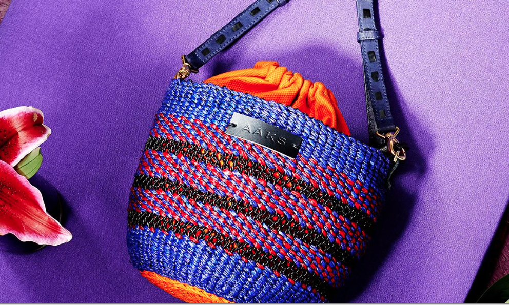 Akosua Afriyie-Kumi is a Ghanaian handbag designer turning ancient raffia hand-weaving techniques into luxury must-have accessories