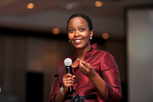 Clare Akamanzi, Chief Operating Officer of the  Rwanda Development Board (RDB)