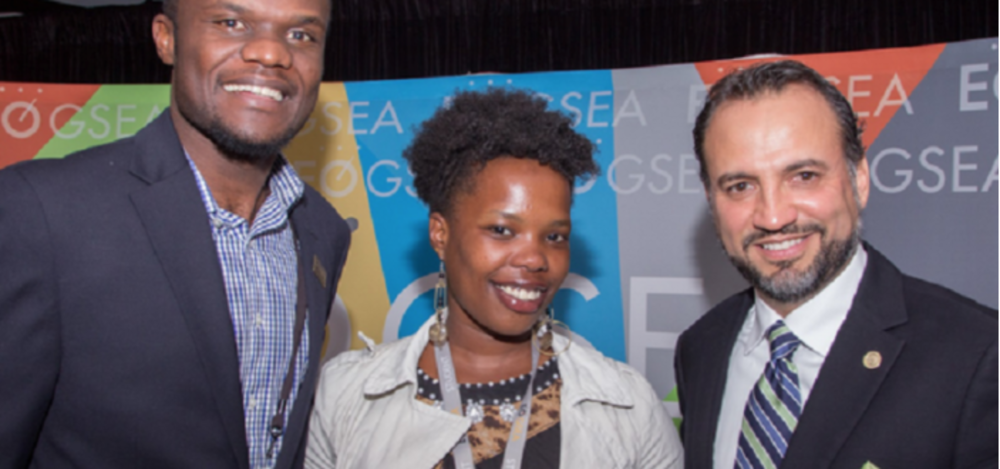 (Centre) Wangechi Mwangi, co-founder and chief executive officer of Valuraha (Kenya)