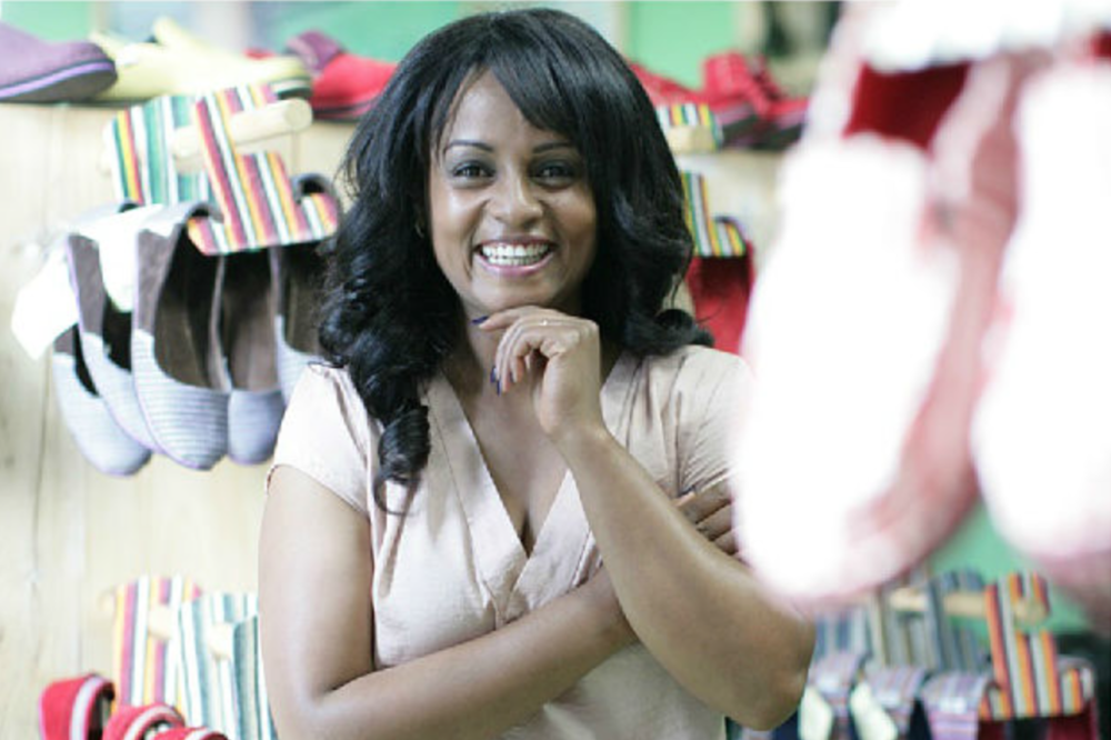Bethlehem Tilahun Alemu ,   founder and Managing Director of   soleRebels