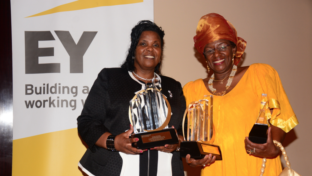 Dr. Jennifer Riria (Right), founder & group chief executive of Kenya Women Holding