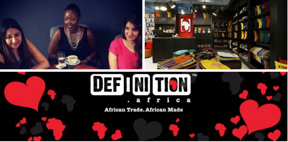 Nahida and Nadia Bhegani & Olga Mugyenyi , founders of   DEF.I.NI.TION Africa , Uganda
