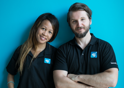 Aisha Pandor  & Alen Ribic, husband and wife co-founders of  SweepSouth  (South Africa