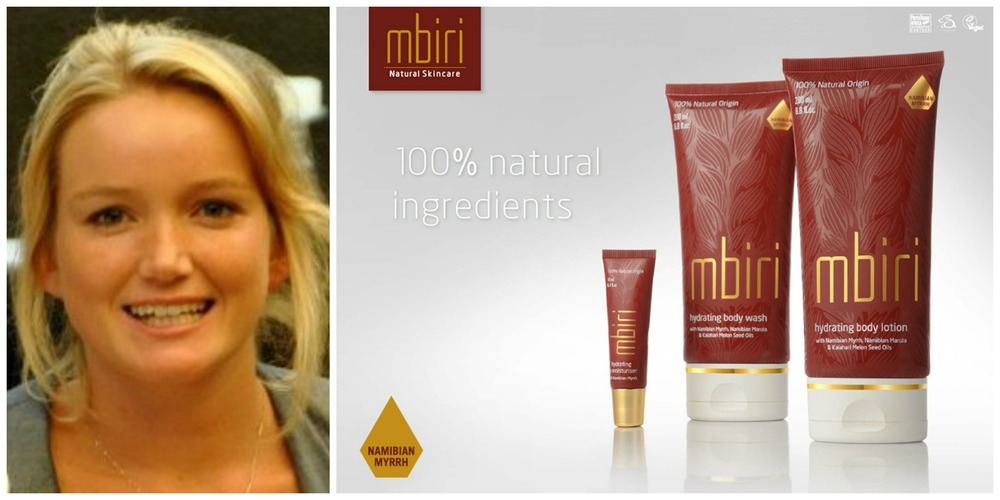 Tammy Knott, founder of Mbiri Natural Skin Products (Namibia)