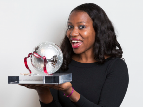 Bilikiss and her Cartier Women's Initiative Award she received in 2013