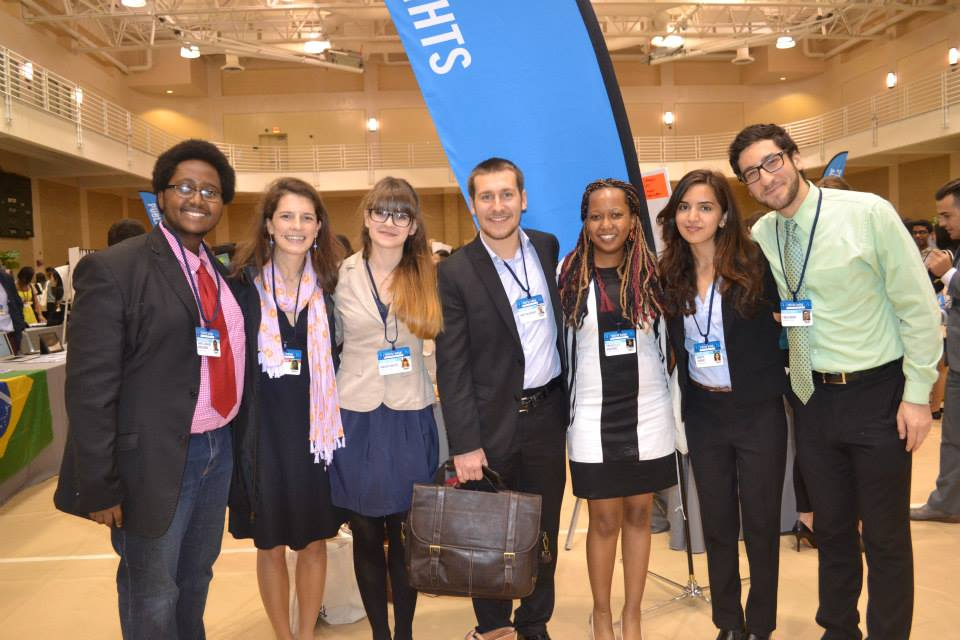Priscilla, Co-founder of S.T. initiative at the CGIU conference 2015 with other Co-founders from Middlebury college.jpg
