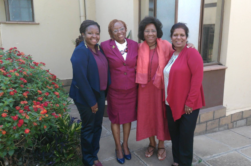Dr. Jennifer Riria (second from left) CEO of Kenya Women Holding