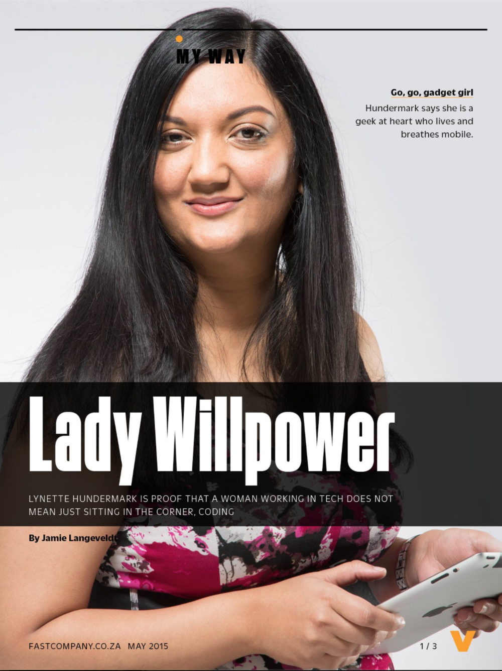 Lynette featured in the May 2015 issue of Fast Company South Africa