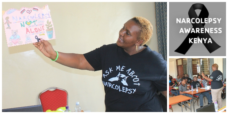 Anne Nduati , founder of  Narcolepsy Awareness Kenya