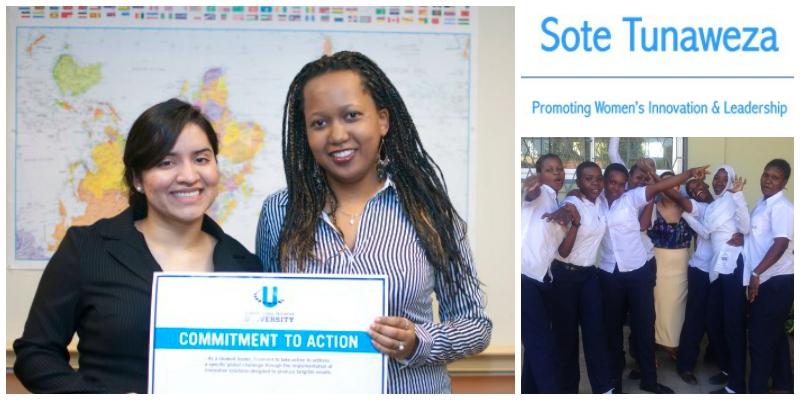 Daniela Barajas(L) andPriscilla Makundi (R),co-founders ofSote Tunaweza