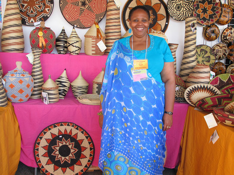 Janet Nkubana, co-founder of Gahaya Links Cooperatives(Rwanda)
