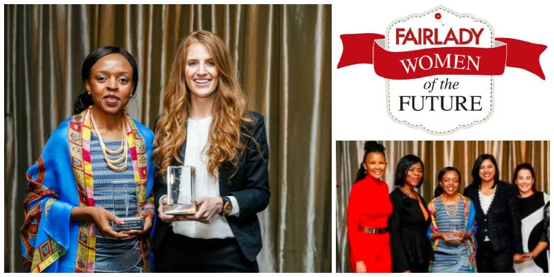 Award winners:Boitumelo Ntsoane (L) and Amy de Castro (R)