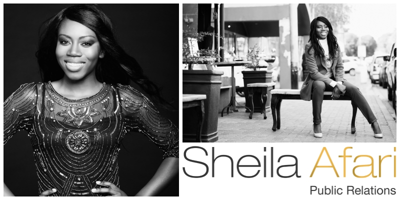 Sheila Afari , founder of Sheila Afari Public Relations (South Africa)