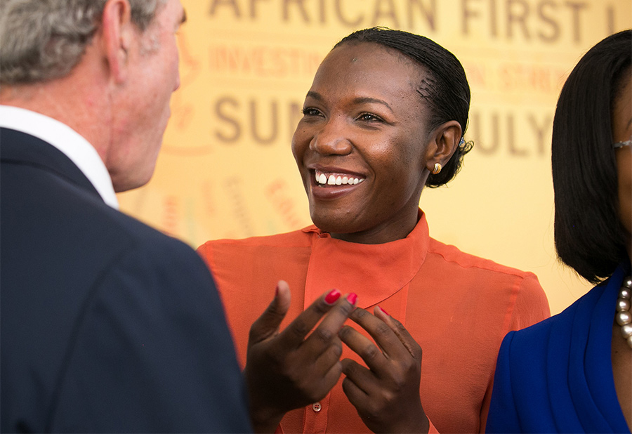 Susan Mashibe , founder of VIA Aviation (Tanzania)