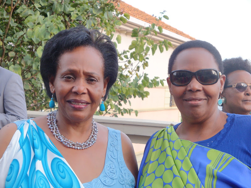 Joy Ndungutse and Janet Nkubana , founders of  Gahaya Links  (Rwanda)