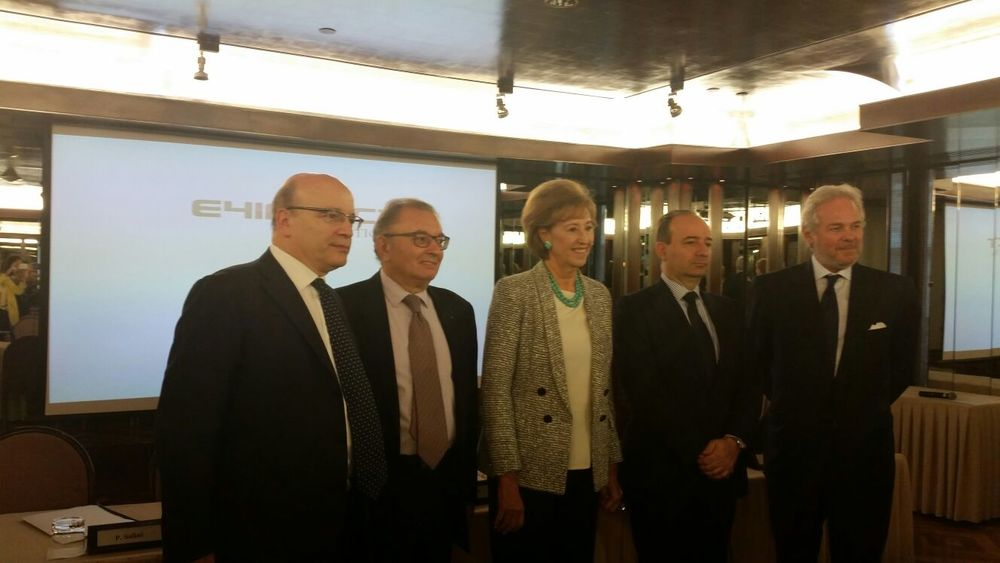 E4Impact Foundation was officially launched to the world by the leaders of the founding bodies in Milan: Letizia Moratti (Securfin), Giorgio Squinzi (Mapei), Pietro Salini (Salini-Impregilo), Franco Anelli (Università Cattolica), Dean of the Università Cattolica del Sacro Cuore and Mario Molteni (Association Always Africa), Full Professor of Business Administration at Università Cattolica.