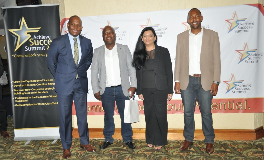 Lynette Hundermark, Managing Director and co-Founder of Useful and Beautiful with fellow keynote speaker Vusi Thembekwayo (far left)