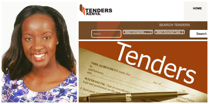 Helen Njoroge , founder of  Tenders Kenya