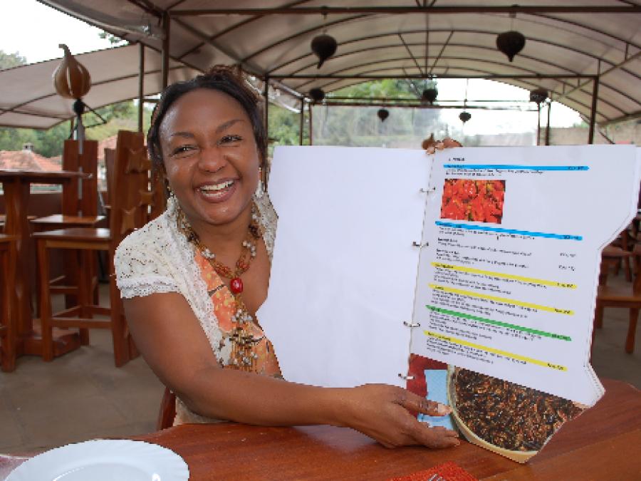 Pamela Muyeshi, founder of Amaica restaurant, Kenya