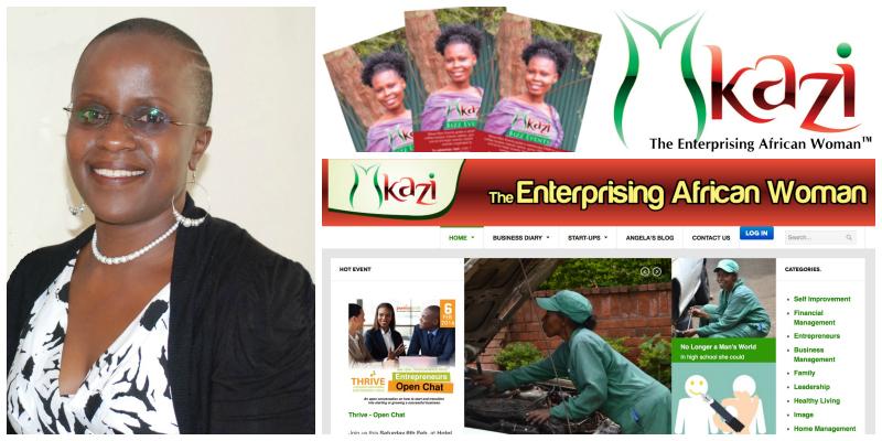 Angela Kamanzi, founder of Arkad World Limited &publisher of Mkazi Magazine (Kenya)