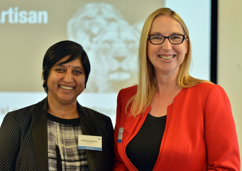 Melanie Hawken with Jayshree Naidoo, the inspirational Head of the Business Incubator at Standard Bank
